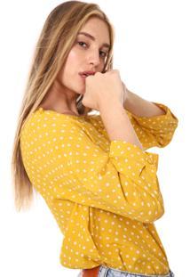 Blusa Gap Tiny Dots Amarela/Branca - Amarelo - Feminino - Viscose - Dafiti