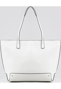 Bolsa Shopper Feminina Com Alça Fixa Off White - Único