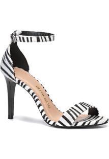 Sandália Feminino Milano Zebra Preto 10560