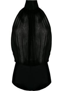 Emilio Pucci Body Translúcido - Preto