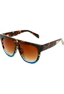 e4fdc0a09 Zattini. Óculos De Sol Feminino Marrom Azul Marie Marielas ...