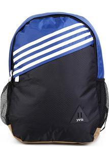 Mochila Seanite Stripes Assimétrica - Unissex-Azul