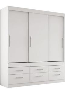 Guarda-Roupa Casal Click Flex Color 3 Pt Branco E Rosa
