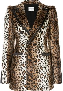 Valentina Shah Blazer Jessica Com Estampa De Leopardo - Marrom