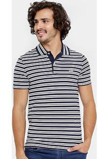 Camisa Polo Lacoste Piquet Regular Fit Listras Masculina - Masculino