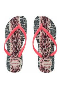 Chinelo Havaianas Slim Animals Bege