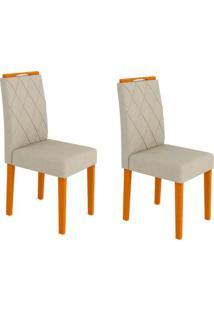 Conjunto Com 2 Cadeiras Isabela Ipê E Bege