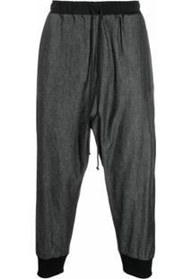 Alchemy Tapered Drawstring Trousers - Preto