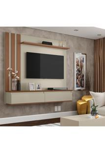 Painel Para Tv Até 46 Polegadas Trend Off White E Canelato
