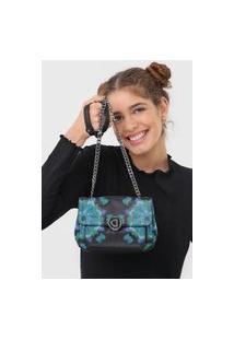 Bolsa Desigual Across Body Bag Waterf Preto/Azul