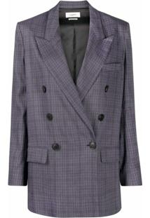 Isabel Marant Étoile Double-Breasted Checked Blazer - Azul