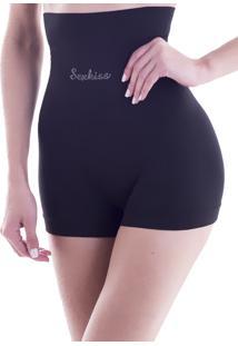 Calcinha Cinta Shorts Victoria Preto 635 - G