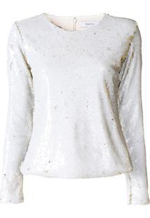 Racil Suéter Com Paetês - Branco