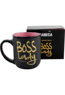 Caneca Zona Criativa Boss Lady Preto