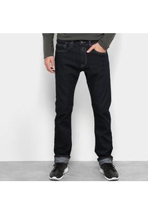 Calça Jeans Slim Replay Lavagem Clássica Cintura Média Masculina - Masculino-Azul Escuro