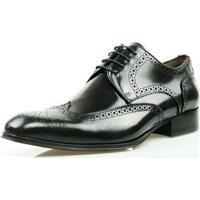 c70f277827 Sapato Social Oxford Classico Couro Masculino - Masculino-Preto