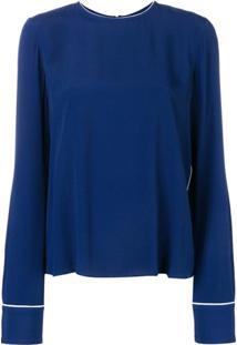 Marni Blusa Decote Careca - Azul