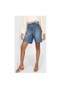 Bermuda Jeans Colcci Estonada Azul