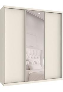 Guarda-Roupa Casal Com Espelho Premium Max 3 Pt 6 Gv Branco