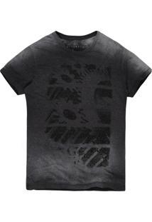 Camiseta Masculina Devorê Engrenagem Grafite