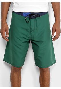 Bermuda D'Água Calvin Klein Básica Masculina - Masculino-Verde Escuro