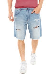 Bermuda Jeans Sommer Rasgos Azul