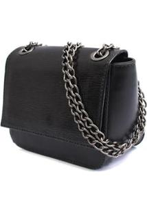 Bolsa Feminina Casual Maria Milão Mini Bag Alça Transversal - Feminino-Preto