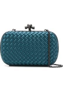 Bottega Veneta Bolsa Clutch Chain Knot - Azul