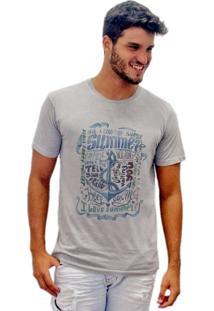 Camiseta Joss Estonada Summer Ã'Ncora Cinza