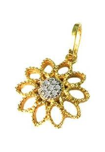 Pingente Pratamil De Ouro Com Zircônia - Feminino-Ouro