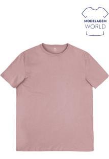 Camiseta Masculina Básica Em Algodão Na Modelagem World