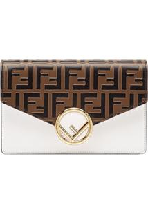 Fendi Ff Wallet On Chain - Marrom