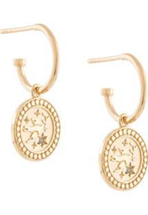 Meadowlark Par De Brincos Amulet Peace - Dourado