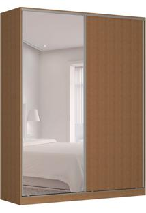 Guarda-Roupa Solteiro Com Espelho Tunas Ix 2 Pt 3 Gv Marrom
