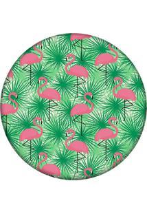 Tapete Love Decor Redondo Wevans Multi Flamingos 94Cm