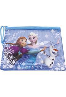 Necessaire Minas De Presentes Frozen Azul