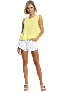 Regata Le Lis Blanc Summer Iv Malha Amarelo Feminina (Amarelo, Gg)