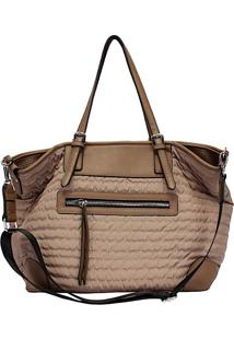 Bolsa Shopping Its! Grande Nylon Tan
