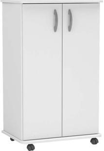 Armário Multiuso Com 2 Portas E 5 Prateleiras Limeira - Politorno - Branco