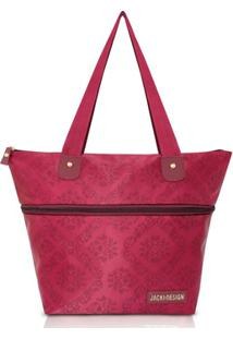 Bolsa Expansível Jacki Design Estampada - Feminino-Vinho