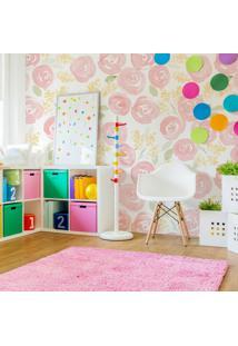 Papel De Parede Stickdecor Adesivo Floral Watercolor Nursery 3Mt A 1,00Mt L