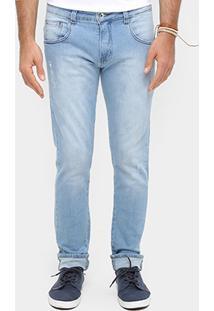 Calça Jeans Skinny Coca-Cola Lavagem Clara Masculina - Masculino