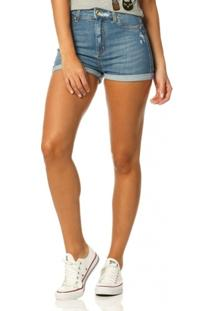 bb887f15cef81 ... Shorts Jeans Denim Zero Pin Up Barra Dobrada - Feminino