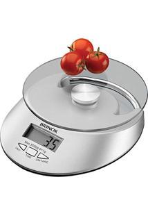 Balança Digital 5 Kg Com Relógio Para Cozinha 2923101 Brinox