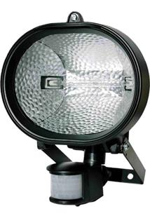 Refletor Halógeno Com Sensor De Presença 500W Bivolt Preto