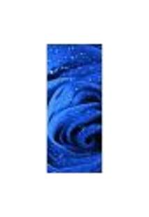 Adesivo Decorativo De Porta - Rosa Azul - Flor - 243Cnpt Auto Colante