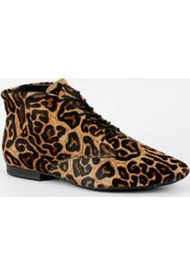 Bota Feminina Coturno Estampa Animal Print Bottero