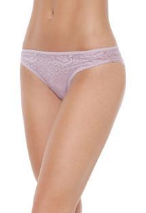 Calcinha Calvin Klein Underwear Tanga Renda Lilás