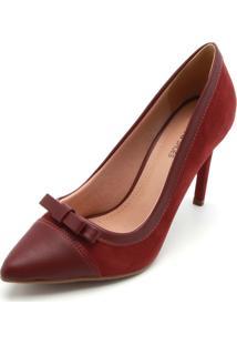 Scarpin Dafiti Shoes Laço Vinho