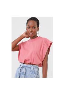 Camiseta Colcci Muscle Tee Rosa